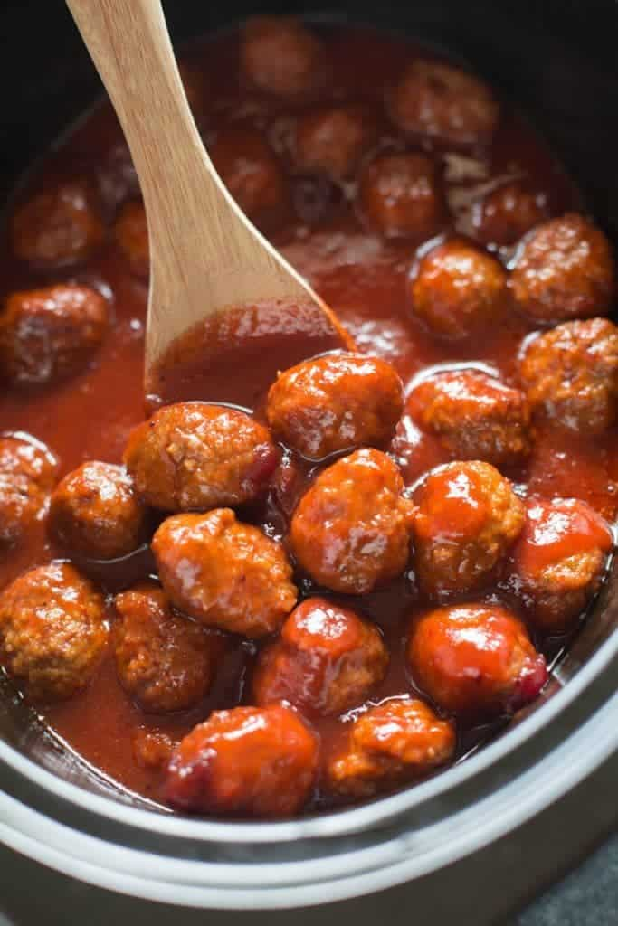 Slow Cooker Cranberry BBQ Meatballs | Tastes Better From Scratch