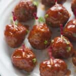Slow Cooker Cranberry Barbecue Meatballs | Tastes Better From Scratch