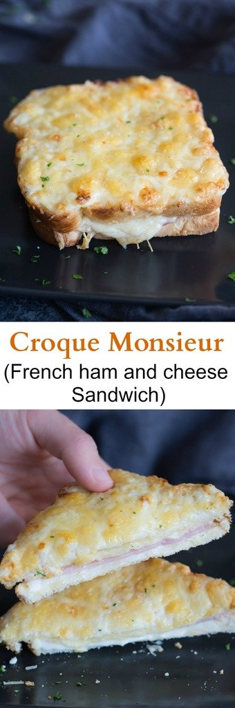Croque Monsieur is the French version of a toasted ham and cheese sandwich. And, like many things, the French do it better! | Tastes Better From Scratch
