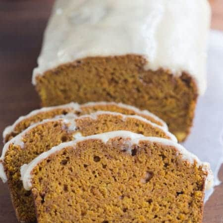 Pumpkin Bread with Browned Butter Maple Glaze | Tastes Better From Scratcj