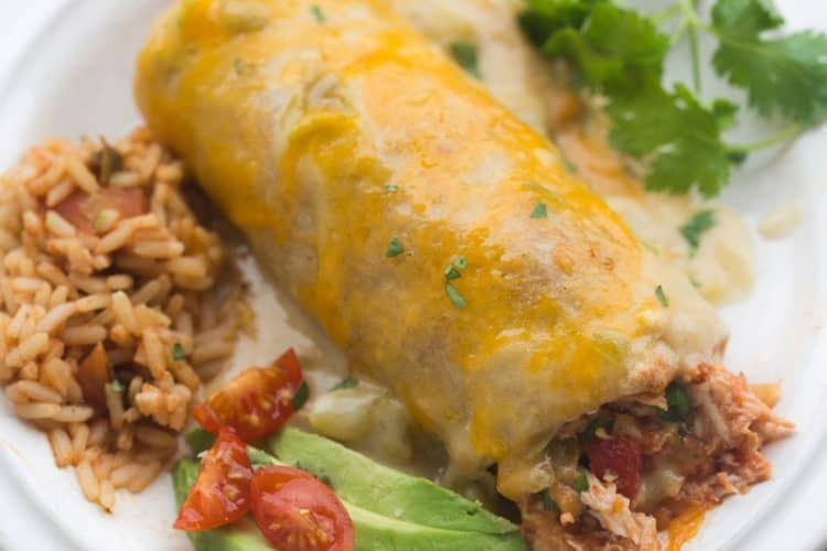 Smothered Green Chile Chicken Burritos | Tastes Better From Scratch