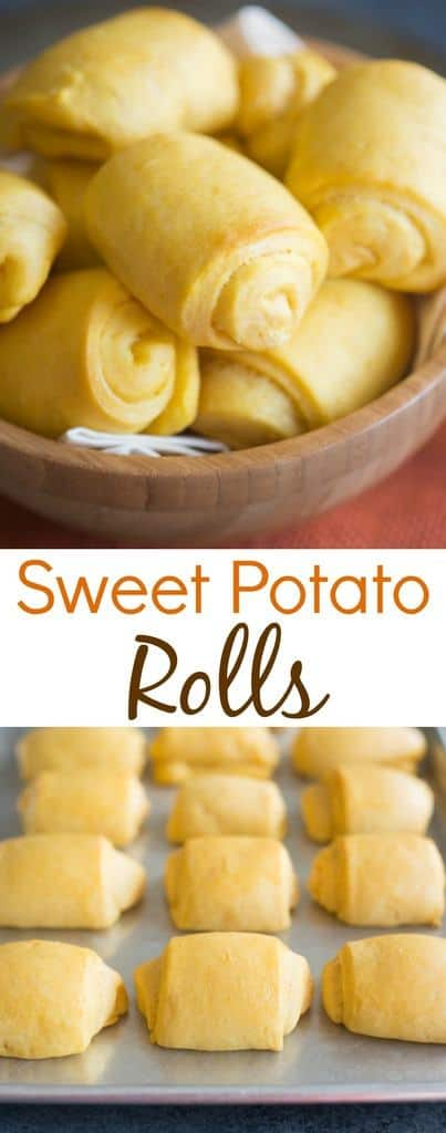 Light and fluffy Sweet Potato Rolls perfect for a warm fall dinner or ...