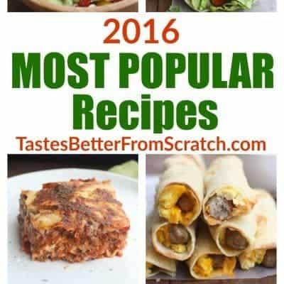 2016 Most Popular Recipes