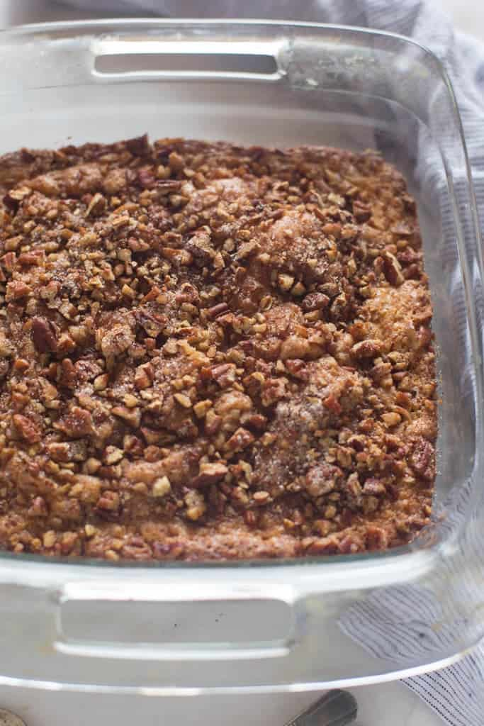 Sour Cream Coffee Cake with cinnamon pecan topping | Tastes Better ...