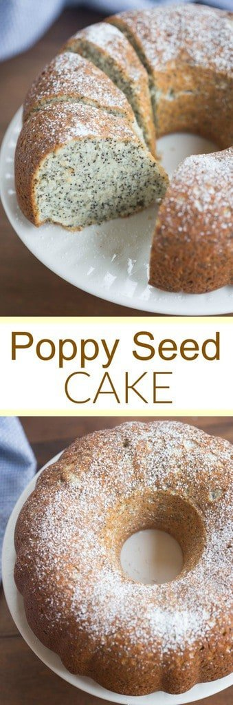 Incredibly light and tender homemade Poppy Seed Cake, perfect for brunch or dessert! | Tastes Better From Scratch
