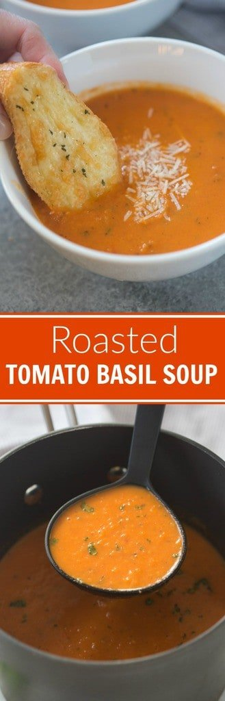 Easy and delicious Roasted Tomato Basil Soup | Tastes Better From ...