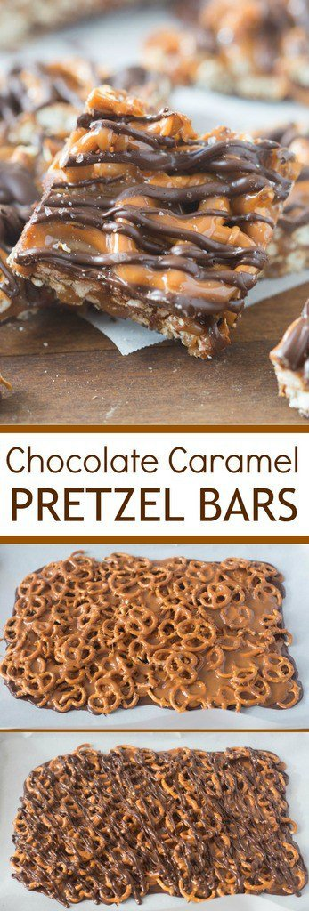 Salted Chocolate Caramel And Pretzel Bars Tastes Better