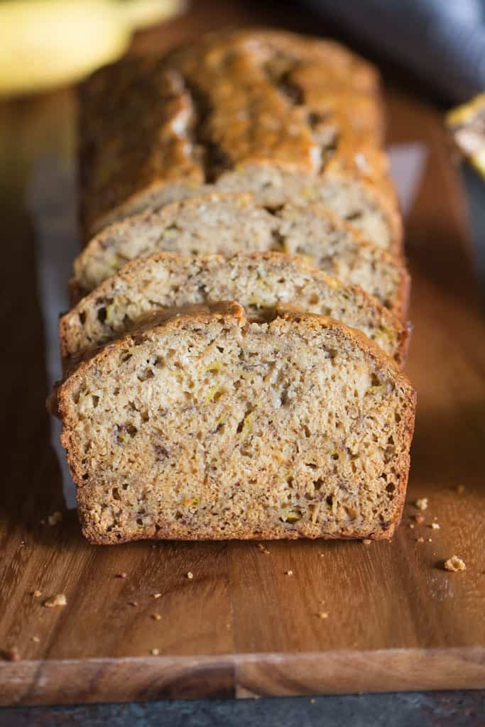 """This Skinny Banana Bread is so moist, perfectly sweet, and delicious, you would never know it's """"skinny""""!"""
