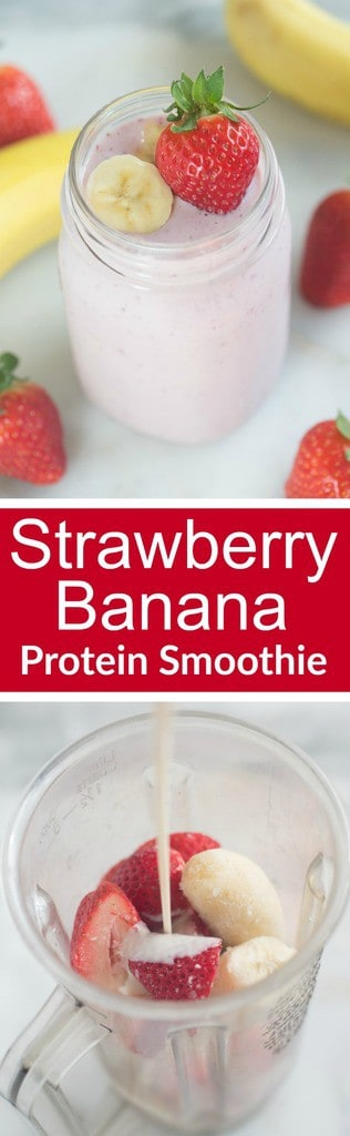 The BEST fresh Strawberry and Banana Protein Smoothie, with a secret ingredient! | Tastes Better From Scratch