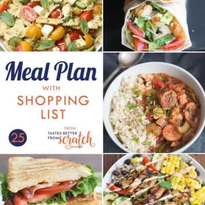 Week 25 Meal Plan and Printable Shopping List