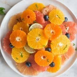 Citrus Fruit Salad is the best juicy, tart blend of winter fruits.   Tastes Better From Scratch