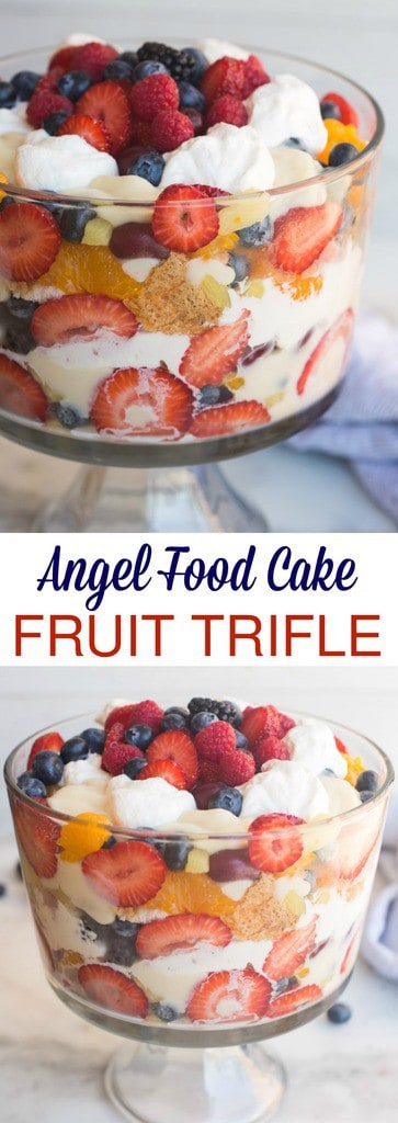 Angel Food Cake Fruit Trifle Tastes Better From Scratch