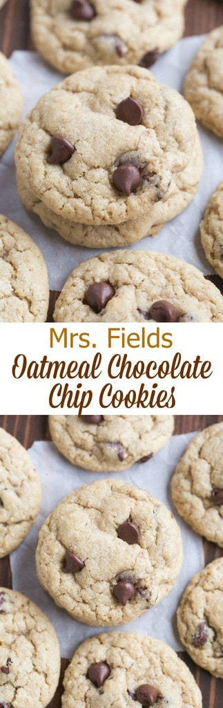 Mrs. Fields Oatmeal Chocolate Chip Cookies is one of my family's most beloved cookie recipes! Perfectly soft and chewy. | Tastes Better From Scratch