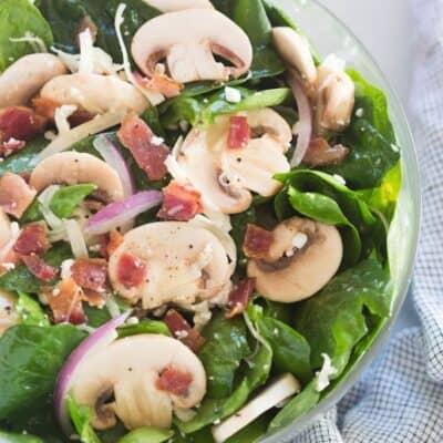 Mushroom Bacon Swiss Salad