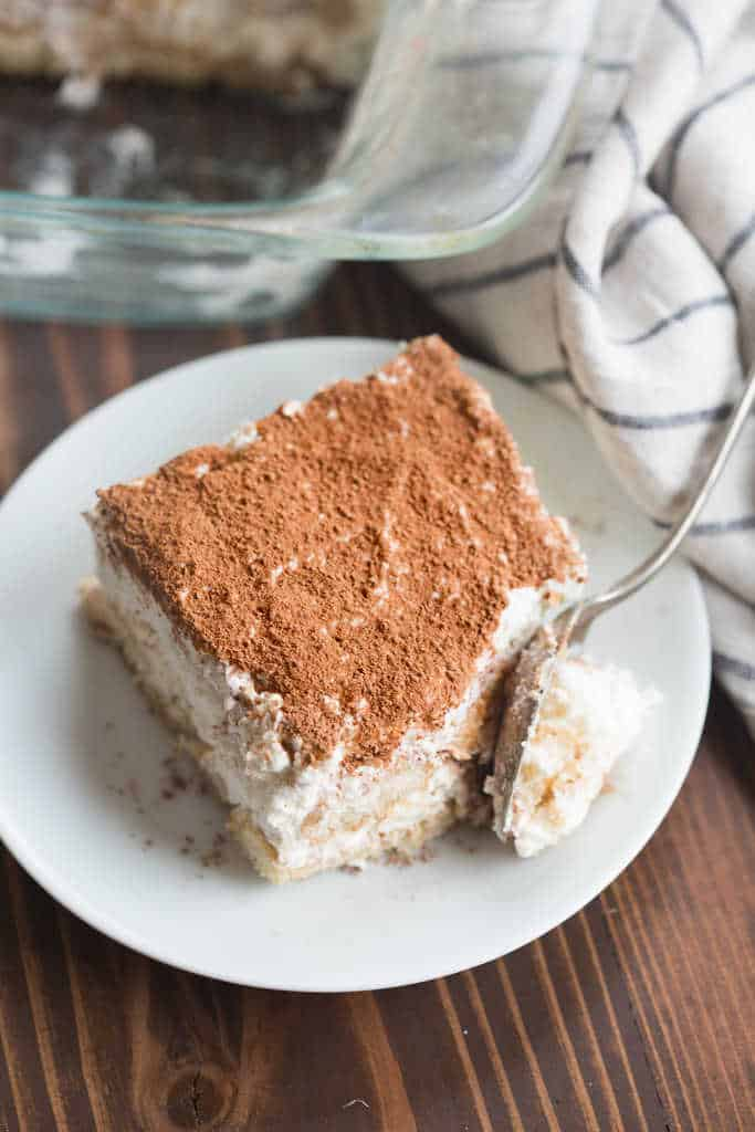 Creamy, delicious and unbelievably EASY tiramisu, homemade in just 10 minutes! | Tastes Better from Scratch