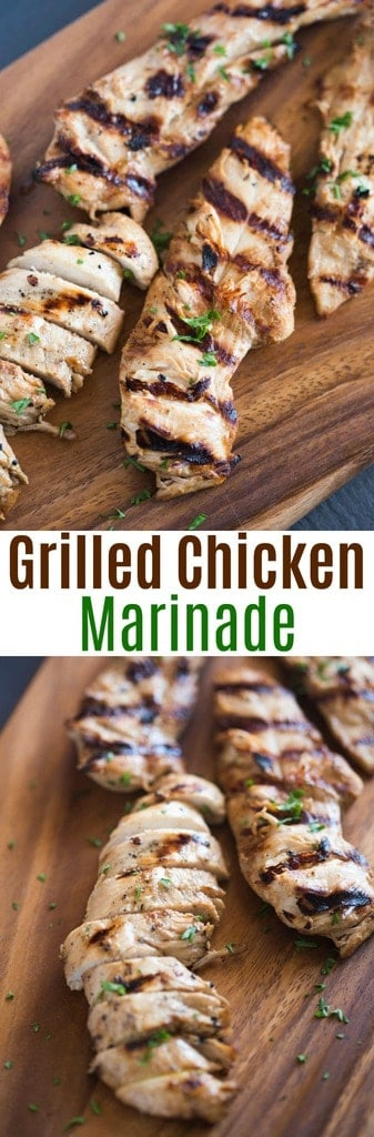 Everyone always RAVES about this delicious (and super EASY) marinated chicken recipe! Just a few simple ingredients and you've got the perfect marinade for summer grilling or even cooking in the oven during cooler months.