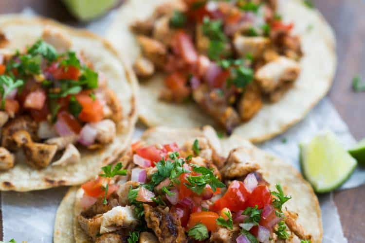 Grilled Chicken Street Tacos | tastesbetterfromscratch.com
