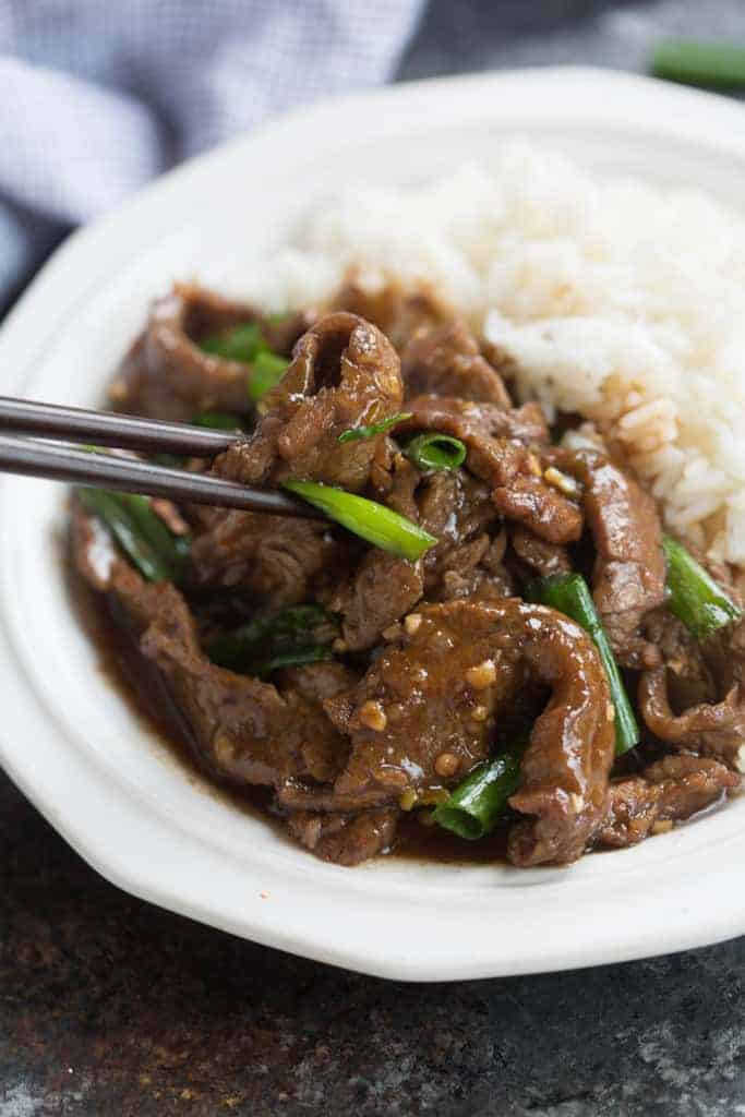 AMAZING mongolian beef, made in just 30 minutes! tastesbetterfromscratch.com