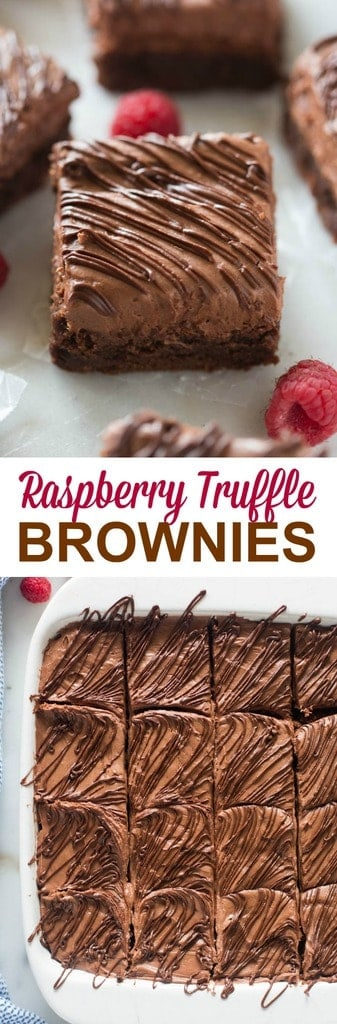 Raspberry Truffle Brownies - Tastes Better From Scratch