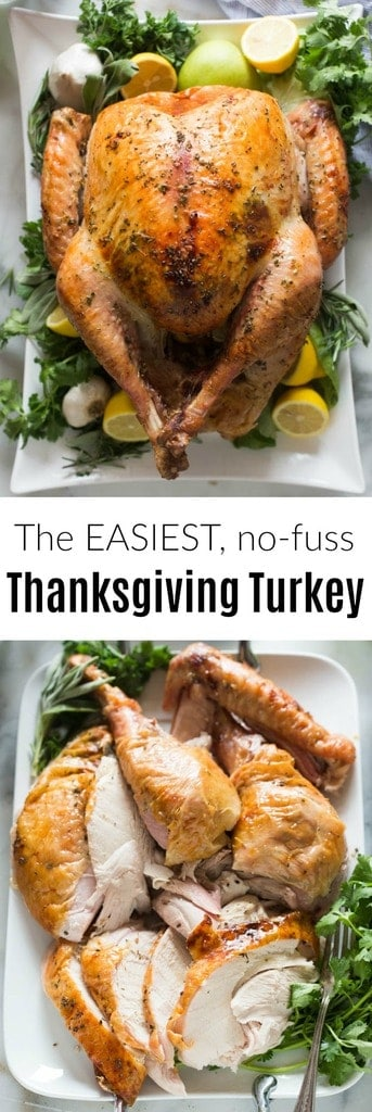 Foolproof Thanksgiving Turkey recipe that packs all of the flavor and juiciness you expect from the perfect roasted turkey, with none of the stress! The world's simplest Thanksgiving Turkey recipe.