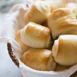 The BEST homemade rolls! Super soft and fluffy.   tastesbetterfromscratch.com