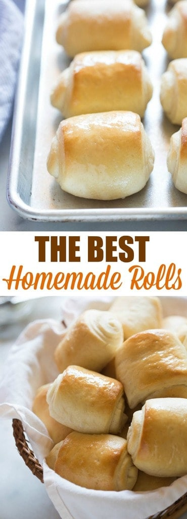 The BEST soft and fluffy homemade rolls!Step by step photos and tips for making perfect dinner rolls--this recipe couldn't be easier.#easy #dinnerroll #quick #homemade| tastsebetterfromscratch.com