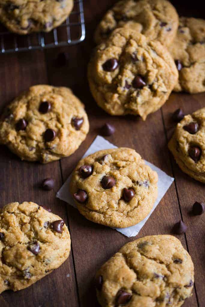 Bakery style, (non-cakey) chewy pumpkin chocolate chip cookies. | tastesbetterfromscratch.com