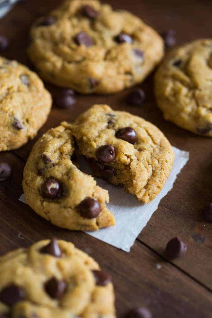 The BEST (non-cakey) chewy pumpkin chocolate chip cookies. | tastesbetterfromscratch.com