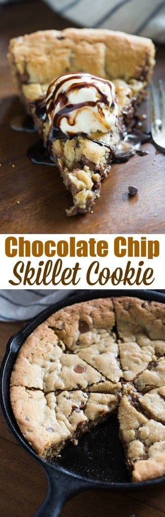 Chocolate Chip Skillet Cookie | tastesbetterfromscratch.com