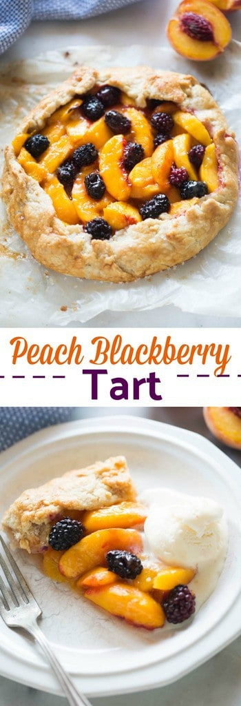 This Peach Blackberry Tart is pretty enough to seem