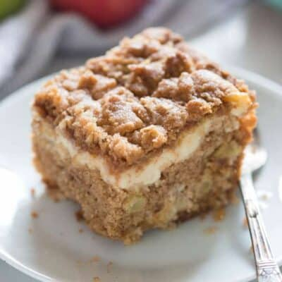 Apple Coffee Cake with cream cheese filling