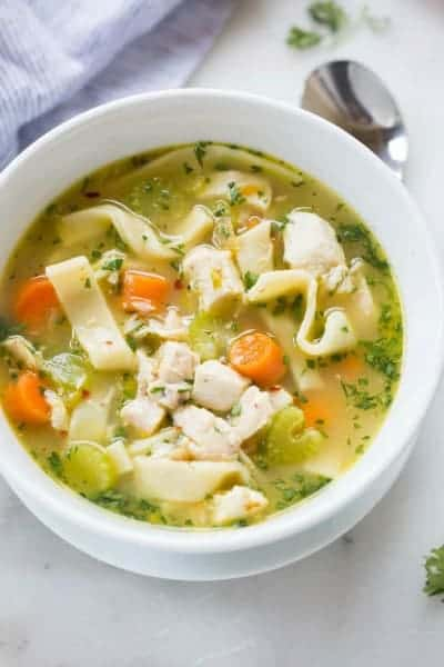 Week 33 meal plan and printable shopping list for How to make homemade chicken noodle soup