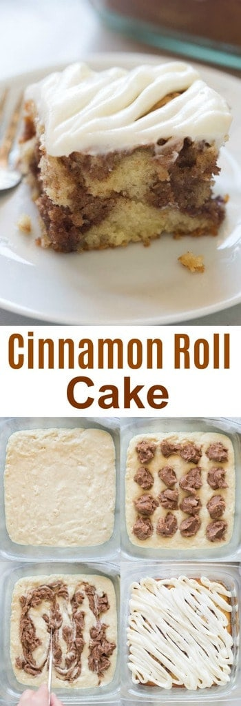 Light And Tender Cinnamon Roll Cake With Cream Cheese Frosting All Of The Flavors I