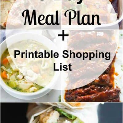 Week 33 Meal Plan and Printable Shopping List
