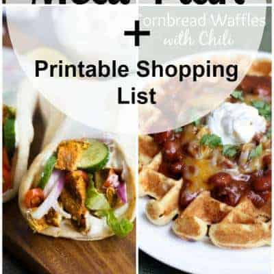 Week 34 Meal Plan and Printable Shopping List