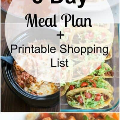 Week 32 Meal Plan and Printable Shopping List