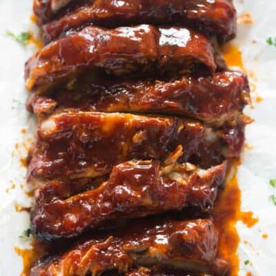 The BEST Slow cooker BBQ Ribs. Fall-off-the-bone tender and they couldn't be easier to make. | tastesbetterfromscratch.com