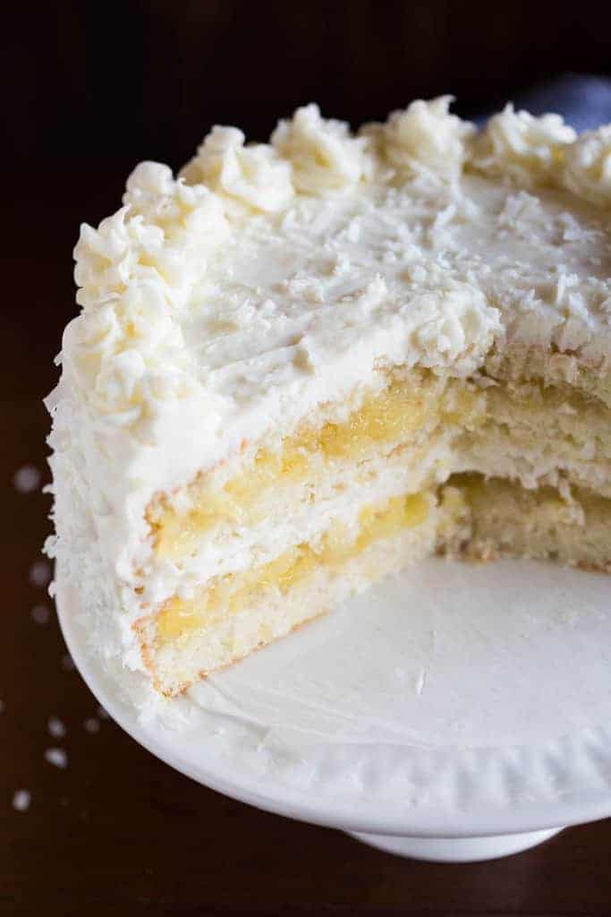 White Coconut Cake From Scratch