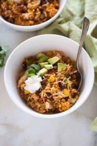 Instant Pot Chicken Taco Bowls | tastesbetterfromscratch.com