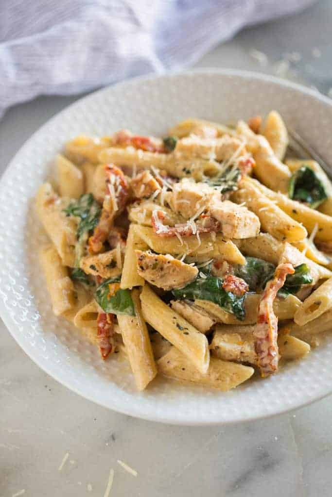 crack chicken pasta casserole