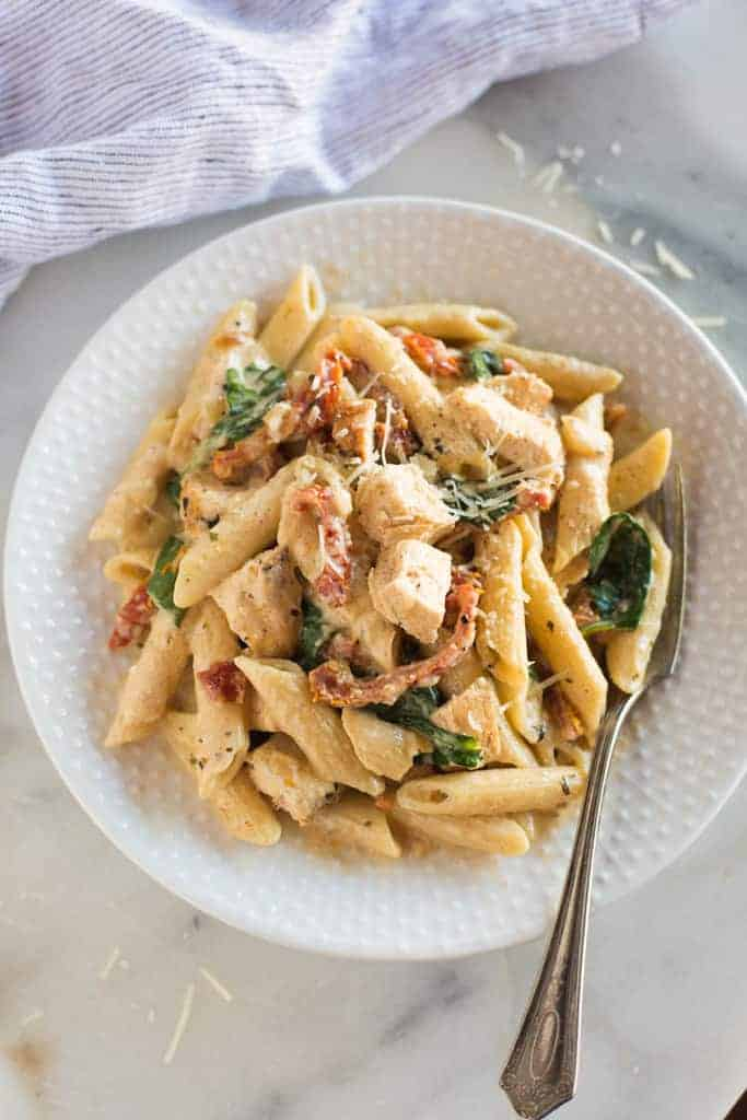 Instant Pot Tuscan Chicken Pasta Tastes Better From Scratch
