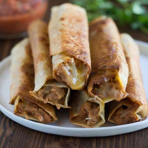Crispy Bean And Cheese Burritos Tastes Better From Scratch