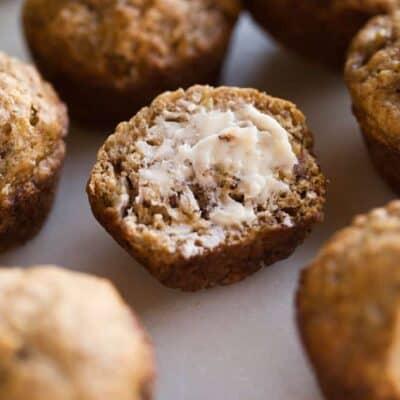 Skinny Banana Bread Muffins - tastesbetterfromscratch.com