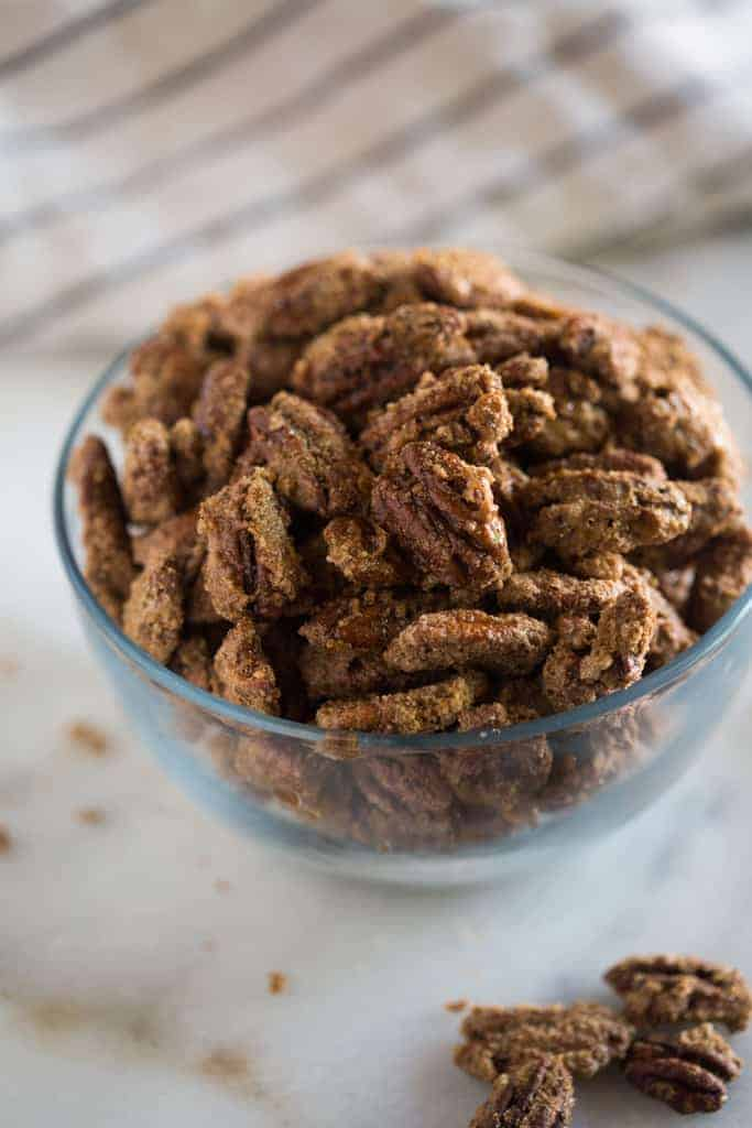 Candied pecans - tastesbetterfromscratch.com