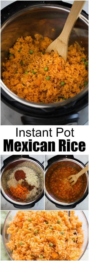 This Instant Pot Mexican Rice recipe is my favorite side-dish for any Mexican food we eat! I perfected this recipe while living in Mexico-- it's completely authentic-- and I've adapted it to cook perfectly in the Instant Pot! #instantpot #mexicanrice #authentic #easy #best #homemade #mexican