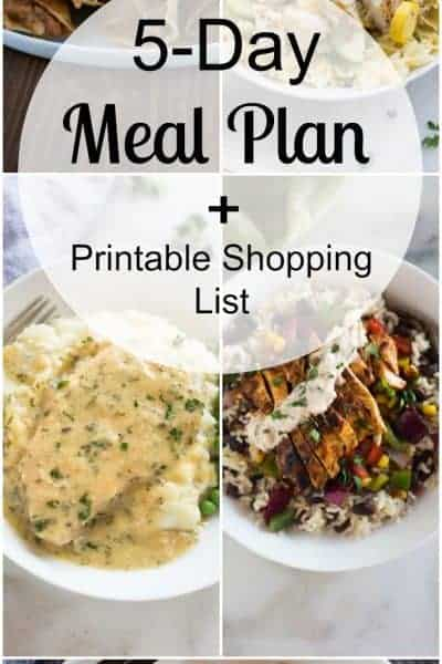 Week 40 Meal Plan and Printable Shopping List