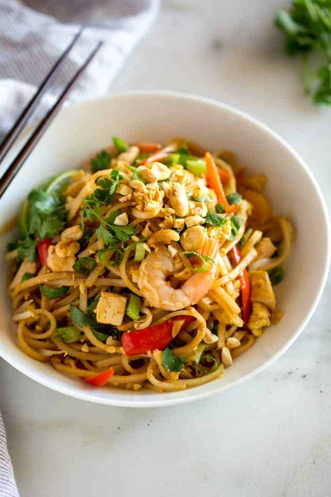 Easy Homemade Pad Thai - Tastes Better from Scratch