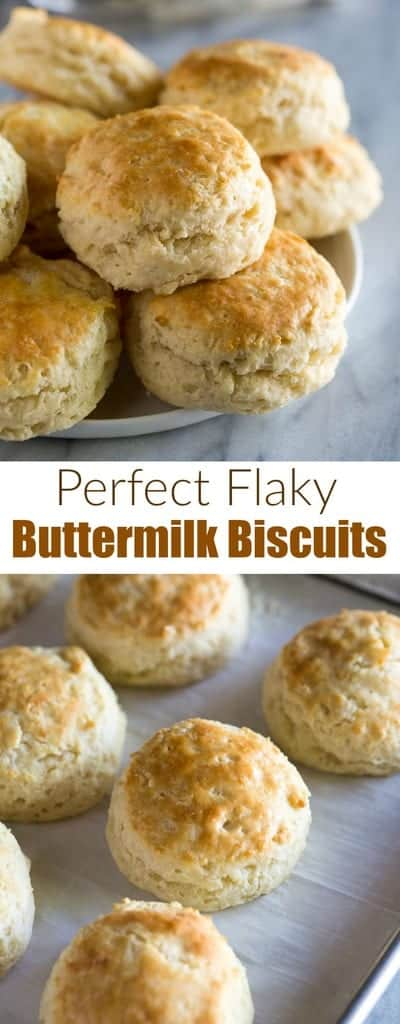 Flaky Buttermilk Biscuits is an easy from scratch biscuit recipe that is quick to throw together and tastes so much better than store bought biscuits.  #biscuits #buttermilkbiscuits #recipe #best #easy #flaky #breakfast #tastesbetterfromscratch