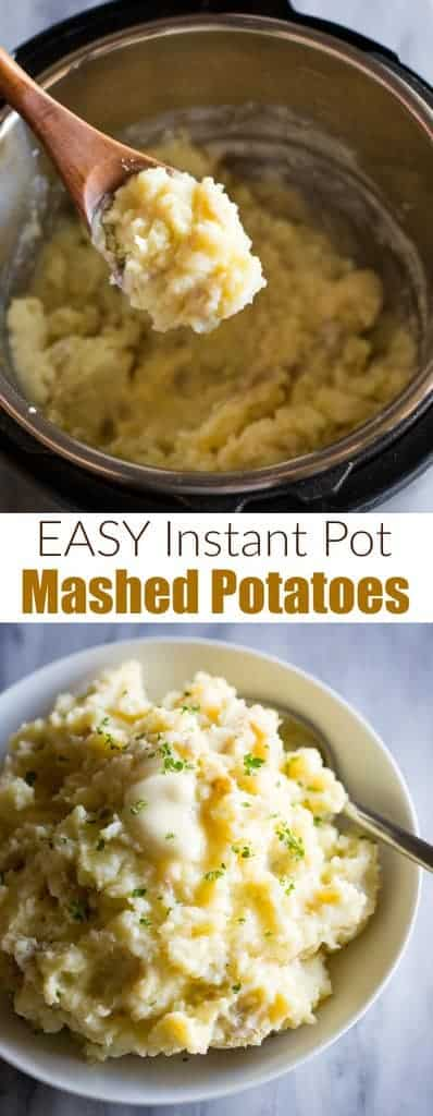 A guide for how to make the best Instant Pot Mashed Potatoes. This mashed potatoes recipe can be made with Russet potatoes or Yukon Gold potatoes and is an easy side dish for a crowd. #mashedpotatoes #instantpot #easy #best #sides #pressurecooker #potatoes #instantpotmashedpotatoes #easy #recipe