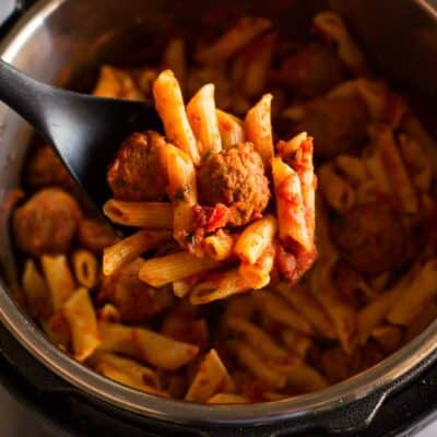 Instant Pot Penne Pasta with Meatballs